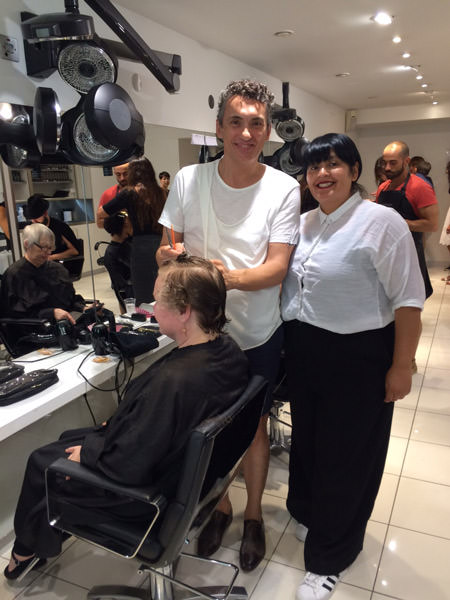 Enrique Valiente con la directora de City Color de Sassoon Salon, Eve Avis